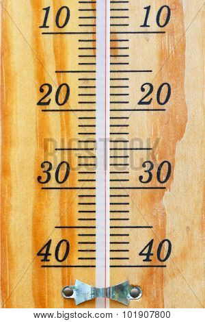 Thermometer scale.