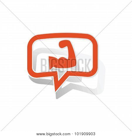 Powerlifting message sticker, orange