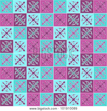 Vector Seamless Arabic Or Indian Pattern. Patchwork Dsign