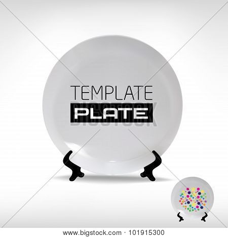 Blank Empty White Plate