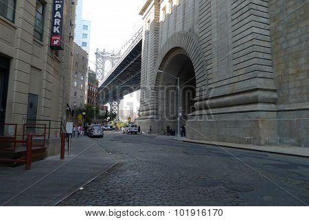 Archway Under Manhattan Bridge