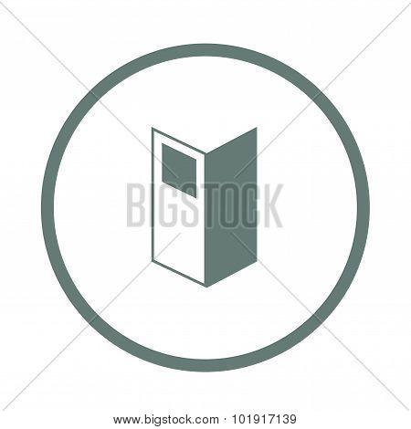 Brochure Icon. Menu Icon. Folder Icon. Flat Design Style Icon.