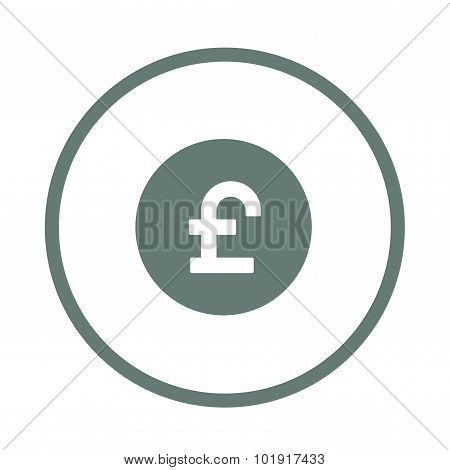 Pound Sign Icon. Gbp Currency Symbol. Money Label.