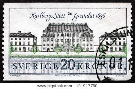 Postage Stamp Sweden 1992 Karlberg Castle