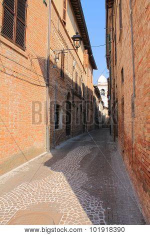 Street inside the old castle
