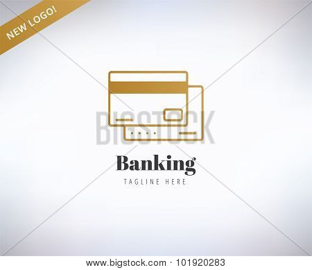 Bank finance logo. Money, banking or broker and growth. Vector stock illustration.