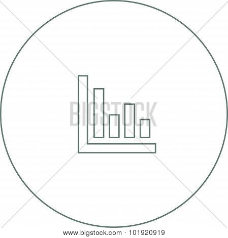 Growth - Cash Flow Plan Concept Icon. Stock Illustration Graph With Columns And Arrow