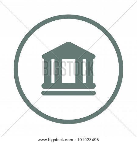 Bank Icon. Economy Symbol. Financial Icon. Bank Building.