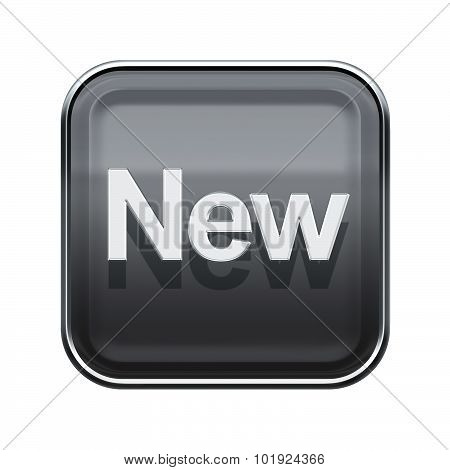 New Icon Glossy Grey, Isolated On White Background