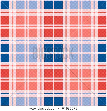 Rectangular Seamless Pattern In Red An Blue Trendy Hues