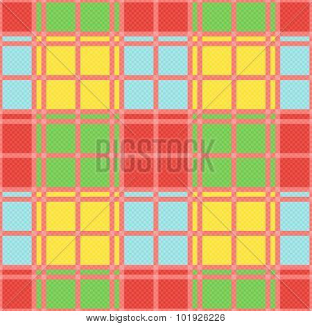 Rectangular Seamless Pattern In Motley Trendy Colors