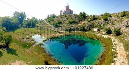 Cetina water source spring in Croatia