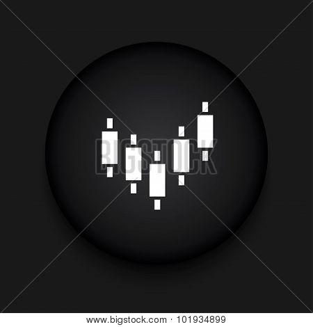 Vector modern binary options black circle icon