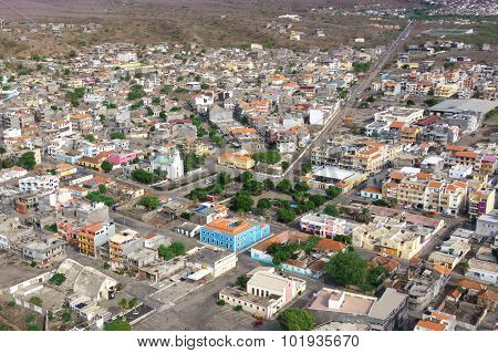 Aerial View Of Tarrafal City In Santiago Island In Cape Verde - Cabo Verde