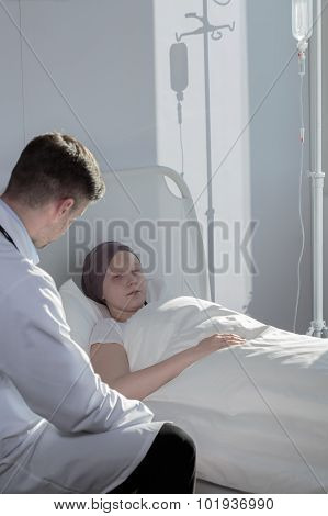 Talking With Sick Patient