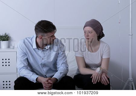 Dad Is Talking With Daughter