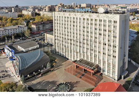 Building of Tranneft-Siberia. Tyumen. Russia