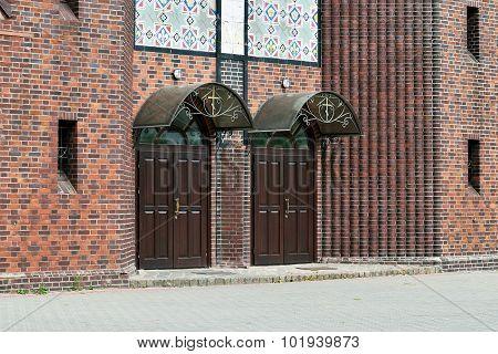 Church Of The Cross, Main Entrance. Kaliningrad (until 1946 Koenigsberg). Russia