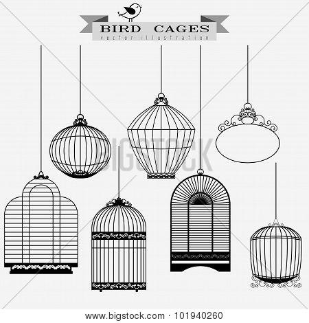 Bird cages set