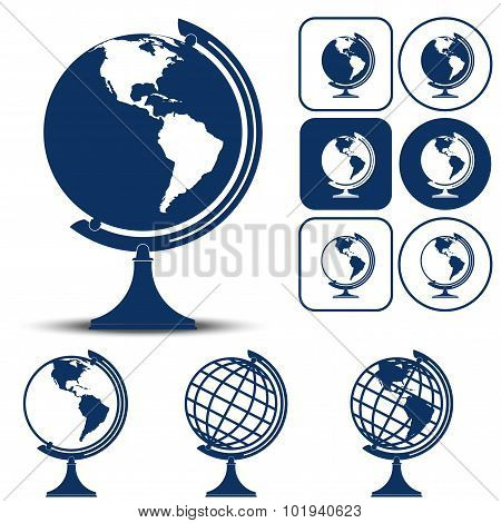 Earth Planet Globe Vector illustration