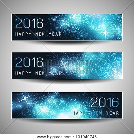 Set of Horizontal New Year Banners - 2016 Version