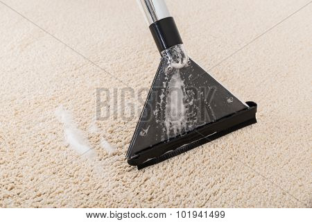 Vacuum Cleaner On Rug