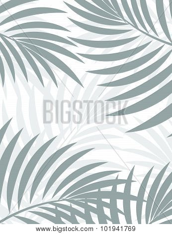 Exotic background with palm leaves for design in hipster style