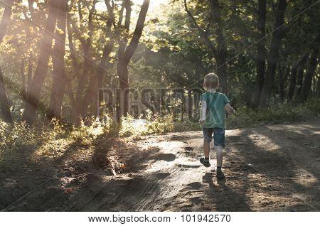 Boy Running Away