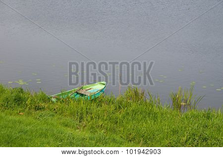 Pond With Rowing Boat