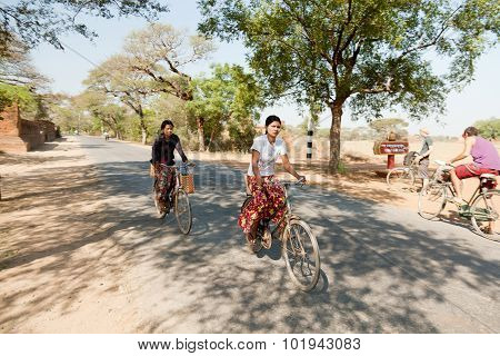 Local People In Bagan