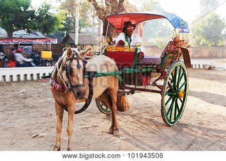 Transport In Bagan, Myanmar