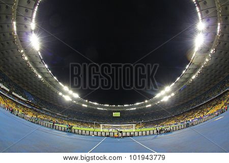 Panoramic View Of Nsc Olimpiyskyi Stadium In Kyiv