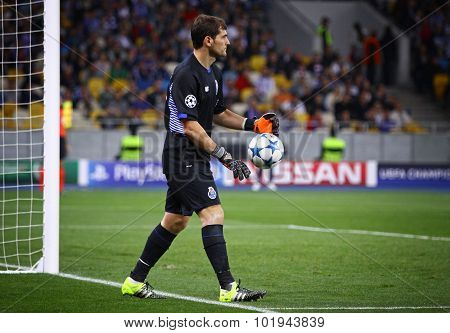 Goalkeeper Iker Casillas Of Fc Porto