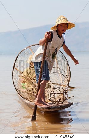 Intha Fisherman, Inle Lake, Myanmar
