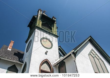 Gables and Belfry on Historic Church