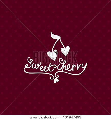 Sweet cherry. Vector confectionery, candy shop and sweet-shop logos