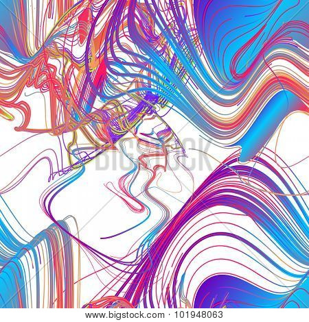 Seamless moving colorful lines of abstract background