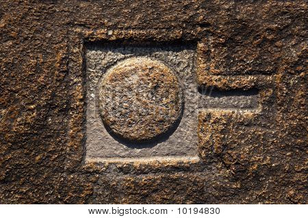 Linga carved into rocks, Hampi.