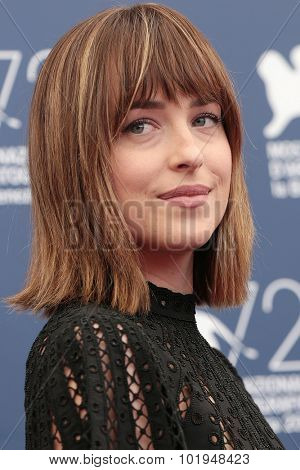 Dakota Johnson at the photocall for Black Mass at the 2015 Venice Film Festival.