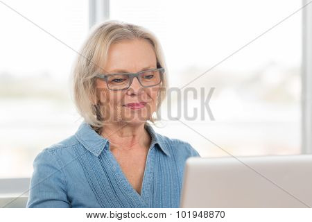 Woman Working Computer