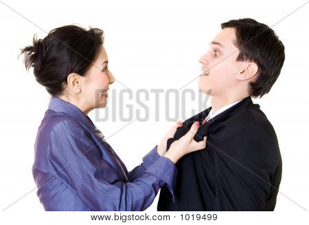 Woman Fighting With Man