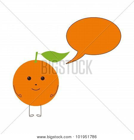 Orange Character With Speech Bubble