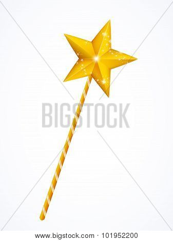 Fairy magic wand with star