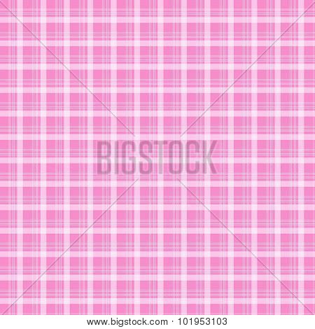 Fabric And Tartan Pink Pattern Background Vector