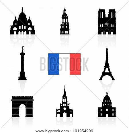 Paris, France Travel Landmarks.