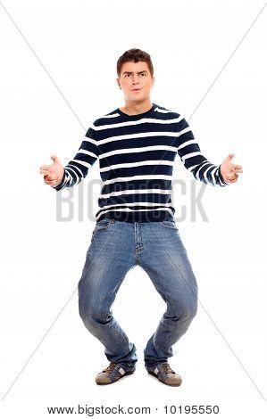 Young Handsome Man Dancing