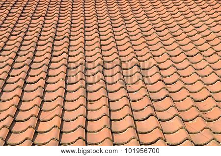 Orange Roof Tiles Background