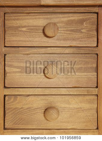 Rustic Wooden Drawer In Warm Tone. Vertical Format