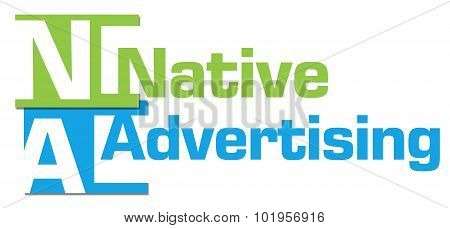 Native Advertising Abstract Colorful Stripes