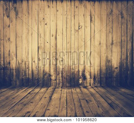old grunge interior, wooden background, retro film filtered, instagram style